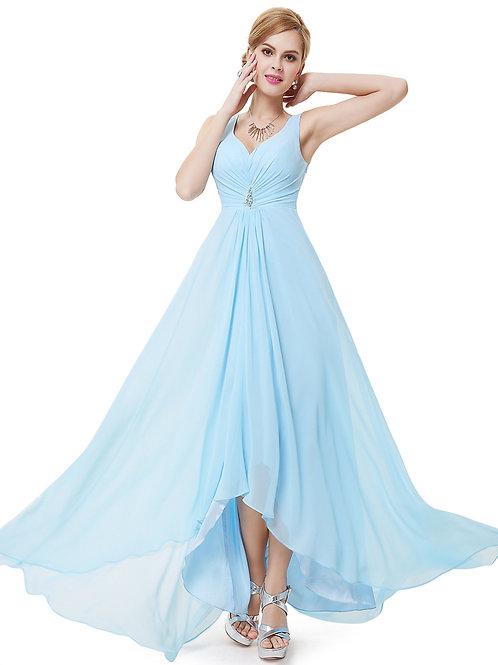 Svetlo modré Spoločenské šaty 9983 SKLADOM