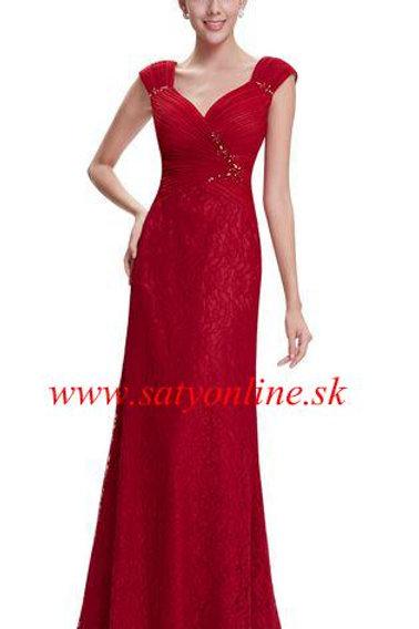 Červene krajkové šaty 8604 SKLADOM