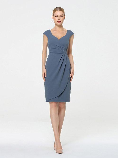 Dusty Blue Krátke šaty