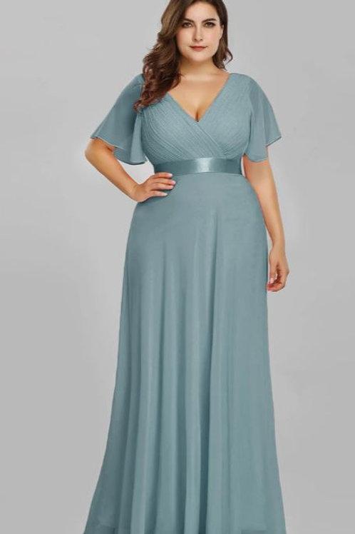 Dusty Blue Spoločenské  šaty 9890