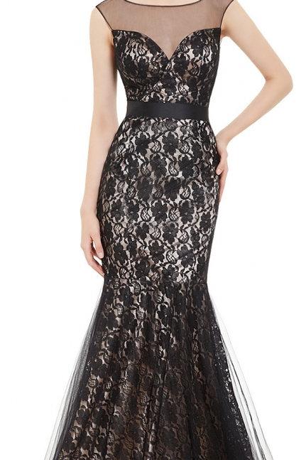Čierne krajkové šaty 8471 SKLADOM