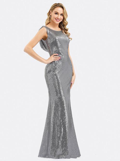 Strieborné flitrované šaty 7551
