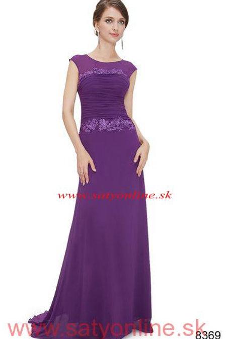 Fialové krajkové šaty 8369 SKLADOM