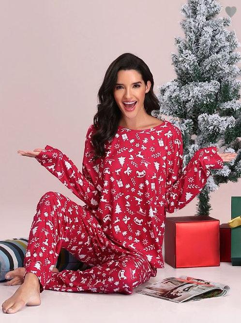 Červené Vianočné Pyžamo