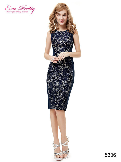 Modré krajkové šaty 5336 SKLADOM