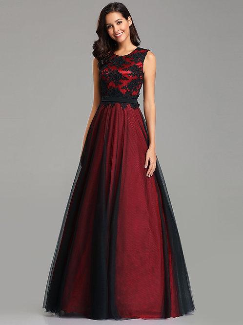 Bordové krajkové šaty 7545