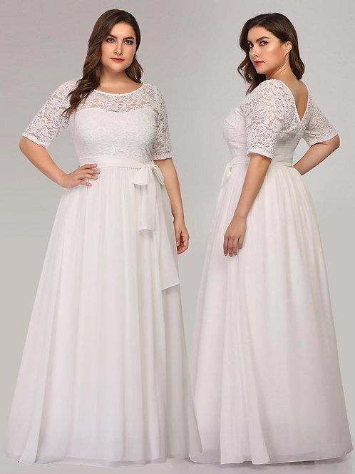 Biele Svadobné- spoločenské šaty 7624 SKLADOM