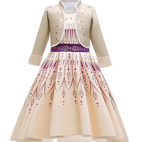 Anna šaty s kabátikom- Karnevalový Kostým