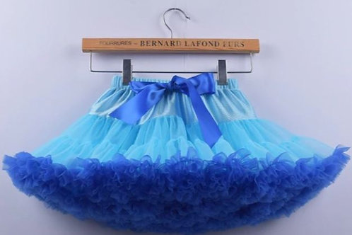 Svetlo Modra s Royal Blue DOLLY sukňa