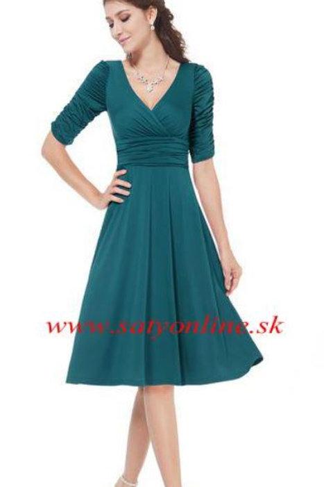 Spoločenské krátke šaty TEAL 3632 SKLADOM