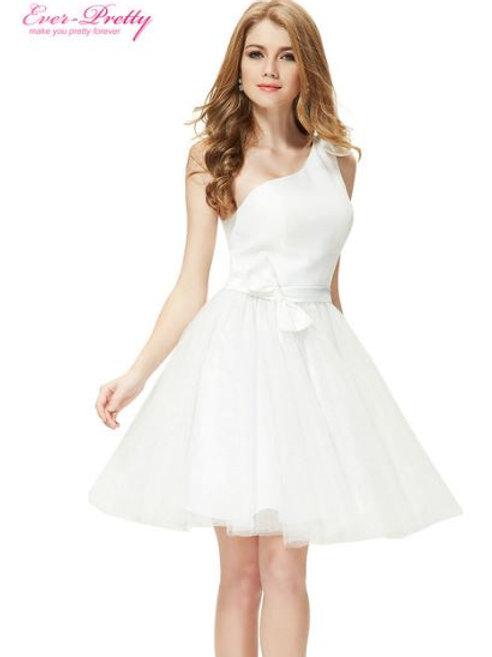 Biele krátke šaty 5056 SKLADOM