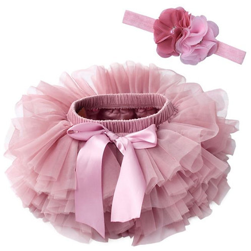 ROSE BABY TUTU with head band