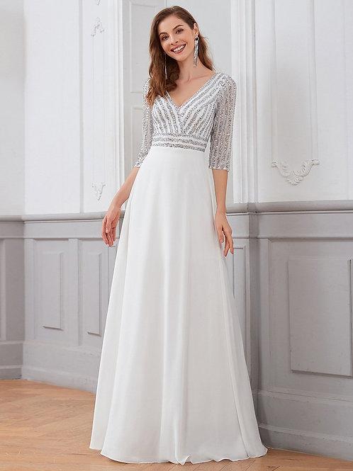 Biele svadobné šaty 0751