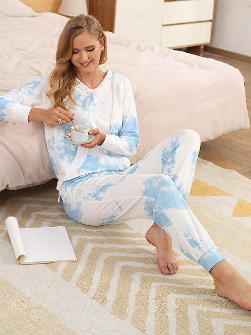 Tie Dyi Pyžamo Dlhé