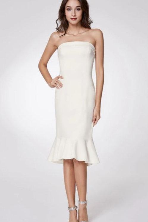 Biele krátke šaty 5969
