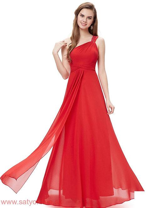 Červene spoločenské šaty 8034 SKLADOM