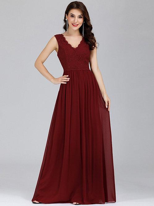Bordové krajkové šaty 7676