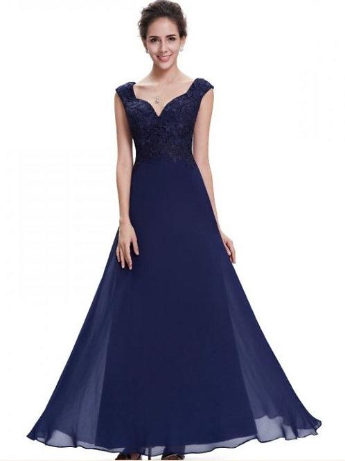 Tmavo modré šaty 8598 SKLADOM