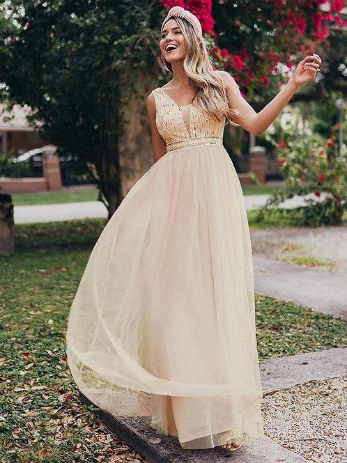 Spoločenské šaty Rose Gold 0715