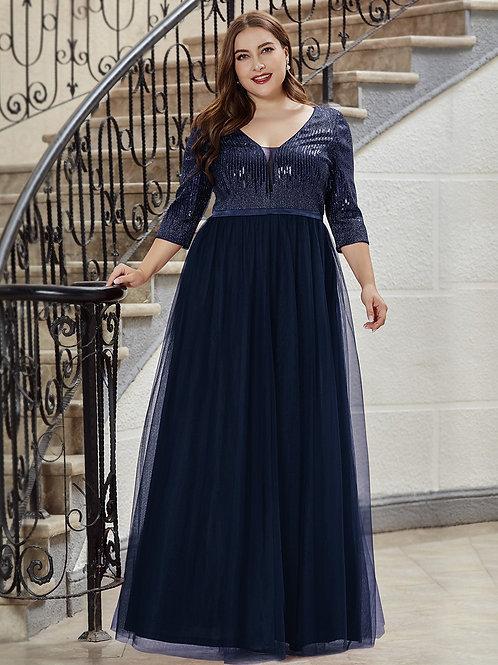 Tmavo modré spoločenské šaty pre MOLETKY 0878