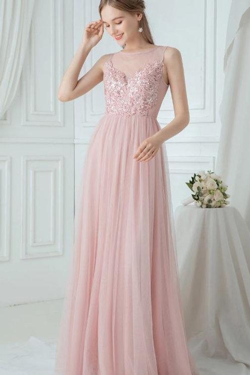 Ružové šaty 0748