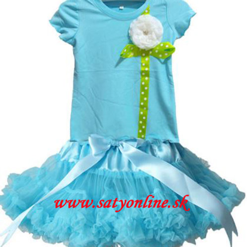 Tyrkysový Flower Dolly SET