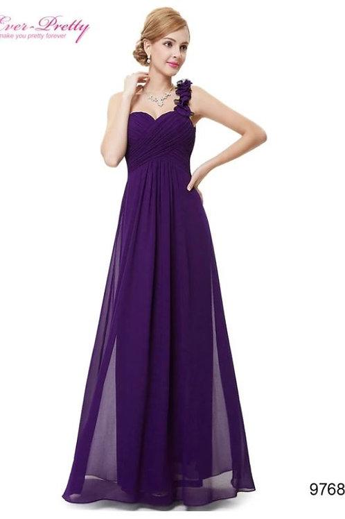 Fialové šaty na jedno rameno 9766 SKLADOM