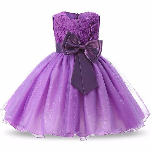 Fialové dievčenské šaty FLOWER