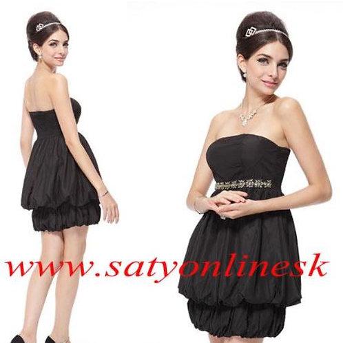 Čierne krátke balónové šaty 3429 SKLADOM