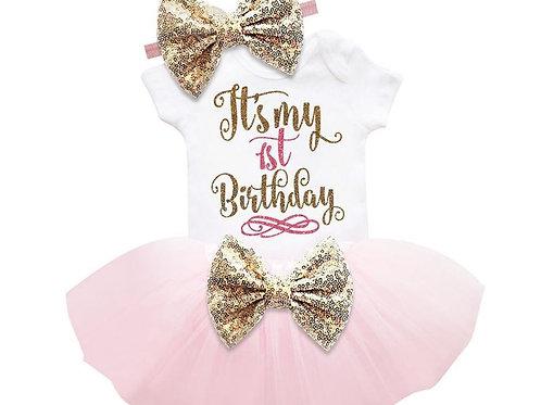 Ružový Birthday SET 1 s korunkou EM