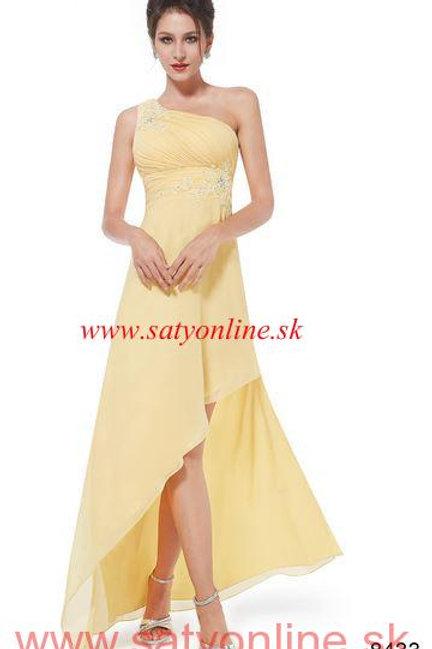 Žlté spoločenské šaty 8344 SKLADOM
