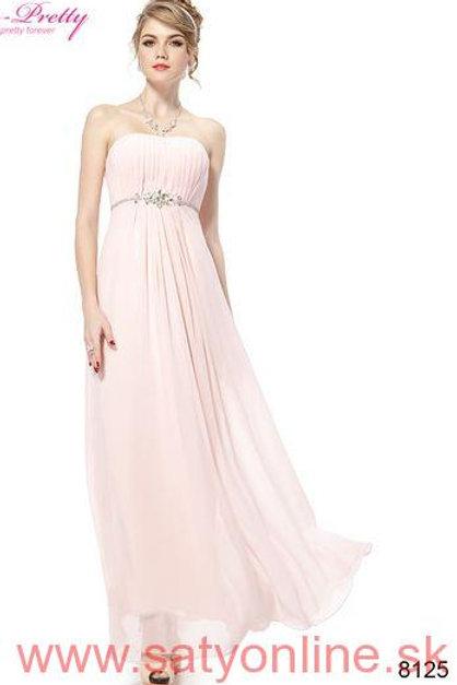 Ružové spoločenské šaty 8125 SKLADOM