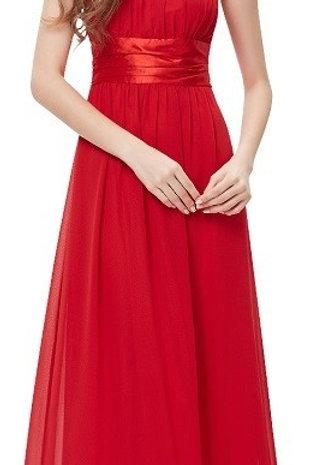Červene spoločenské šaty 9060 SKLADOM