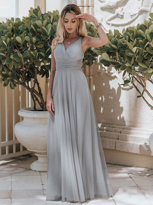 Sivé Spoločenské šaty  7303
