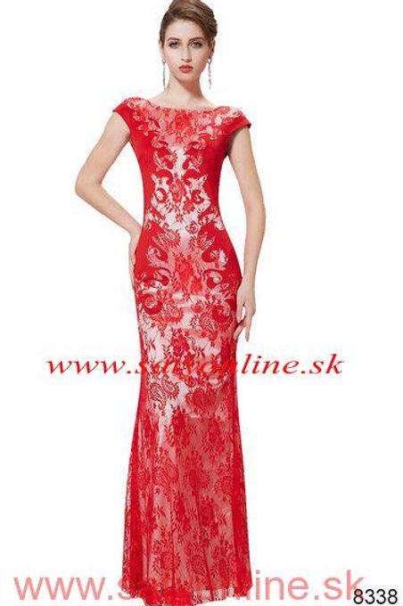 Červene krajkove šaty 8338 SKLADOM