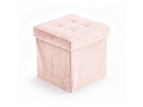Kids Concept Úložný taburet Velvet Light Pink
