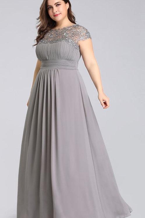 Sivé Spoločenské  šaty 9993