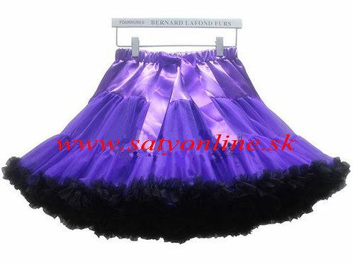 Fialovo čierna DOLLY sukňa XL SKLADOM