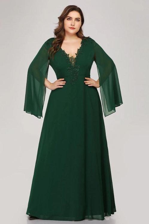 Tmavo zelene šaty MOLETKA 7948