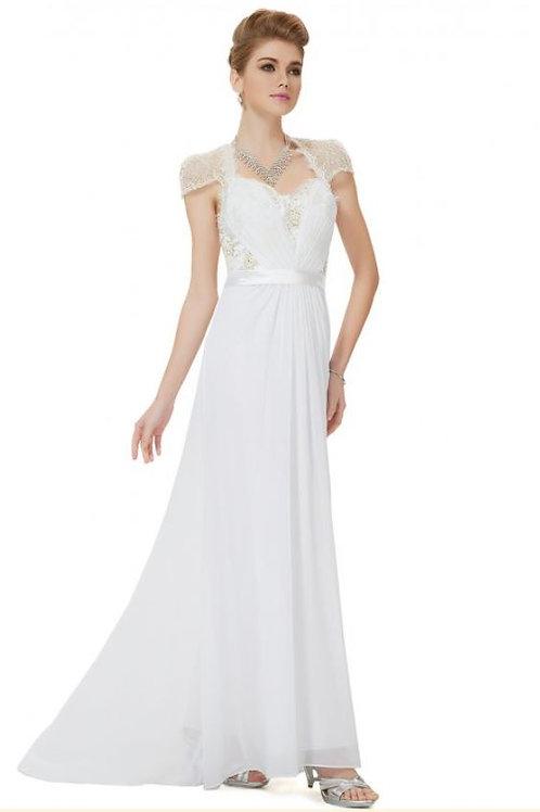 Biele krajkové šaty 9867 SKLADOM