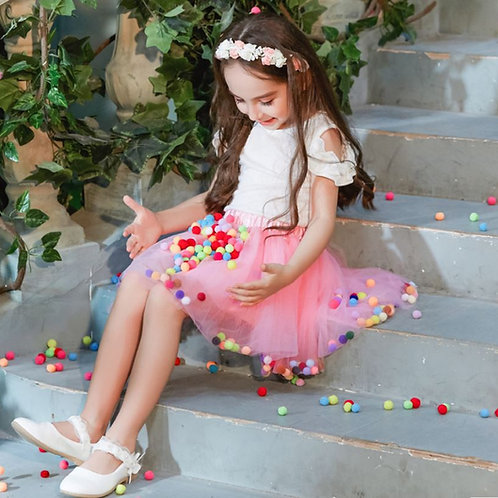 Ružová TUTU suknička s GUĽKAMI Skladom