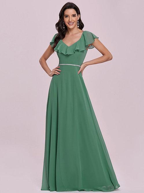 Spoločenské šaty Dusty Green 0123