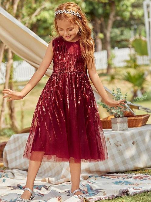 Bordové dievčenské šaty