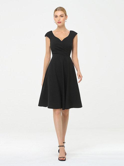 Čierne krátke elegantné šaty