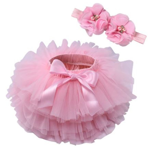 Pink BABY TUTU with head band