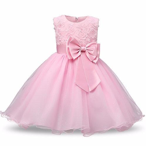 Ružové dievčenské šaty FLOWER Skladom