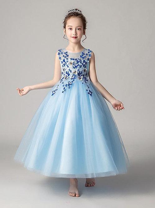 Modré dievčenské šaty