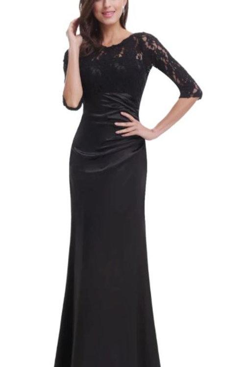 Čierne krajkove šaty 9882 SKLADOM