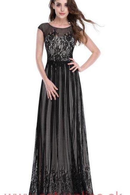 Čierne krajkové šaty 8828 SKLADOM