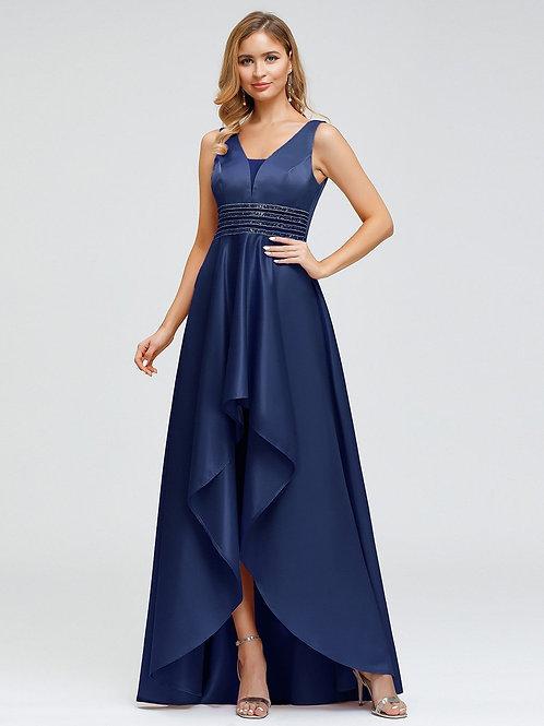 Tmavo modré spoločenské šaty 0877